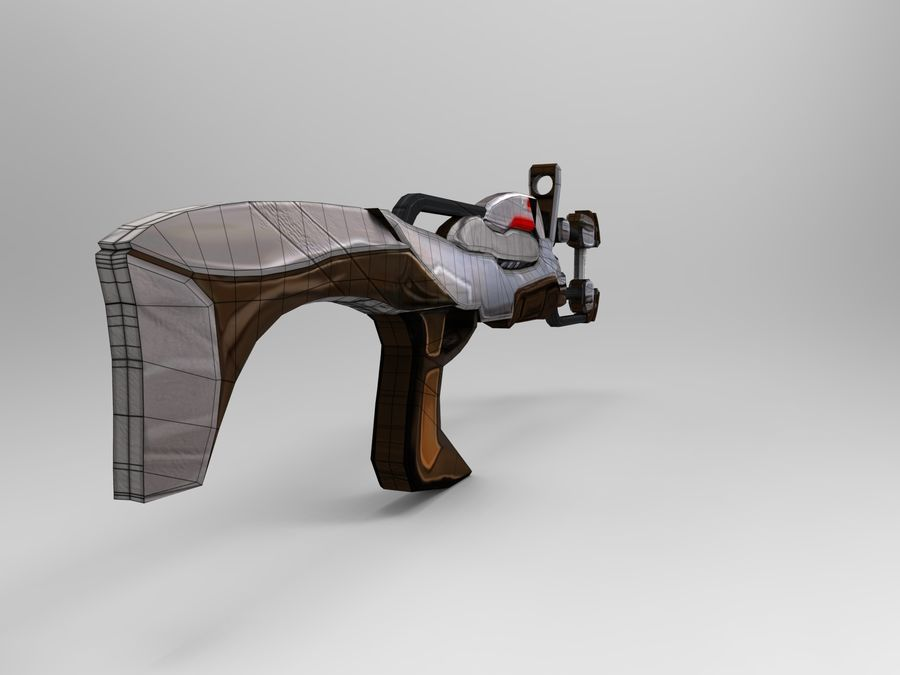 broń nowoczesna royalty-free 3d model - Preview no. 44