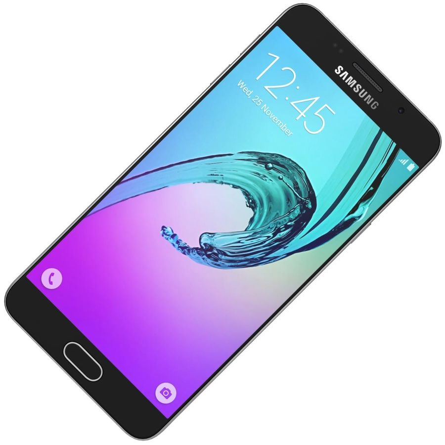 Samsung Galaxy A5 (2016) Svart royalty-free 3d model - Preview no. 15