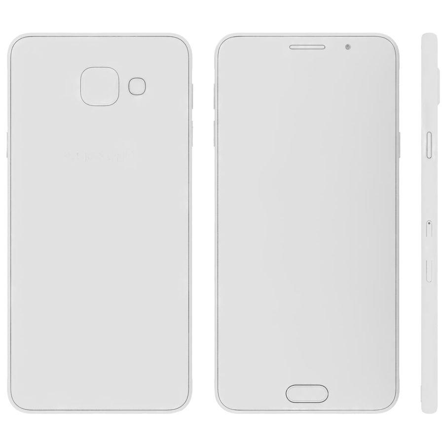 Samsung Galaxy A5 (2016) Svart royalty-free 3d model - Preview no. 26