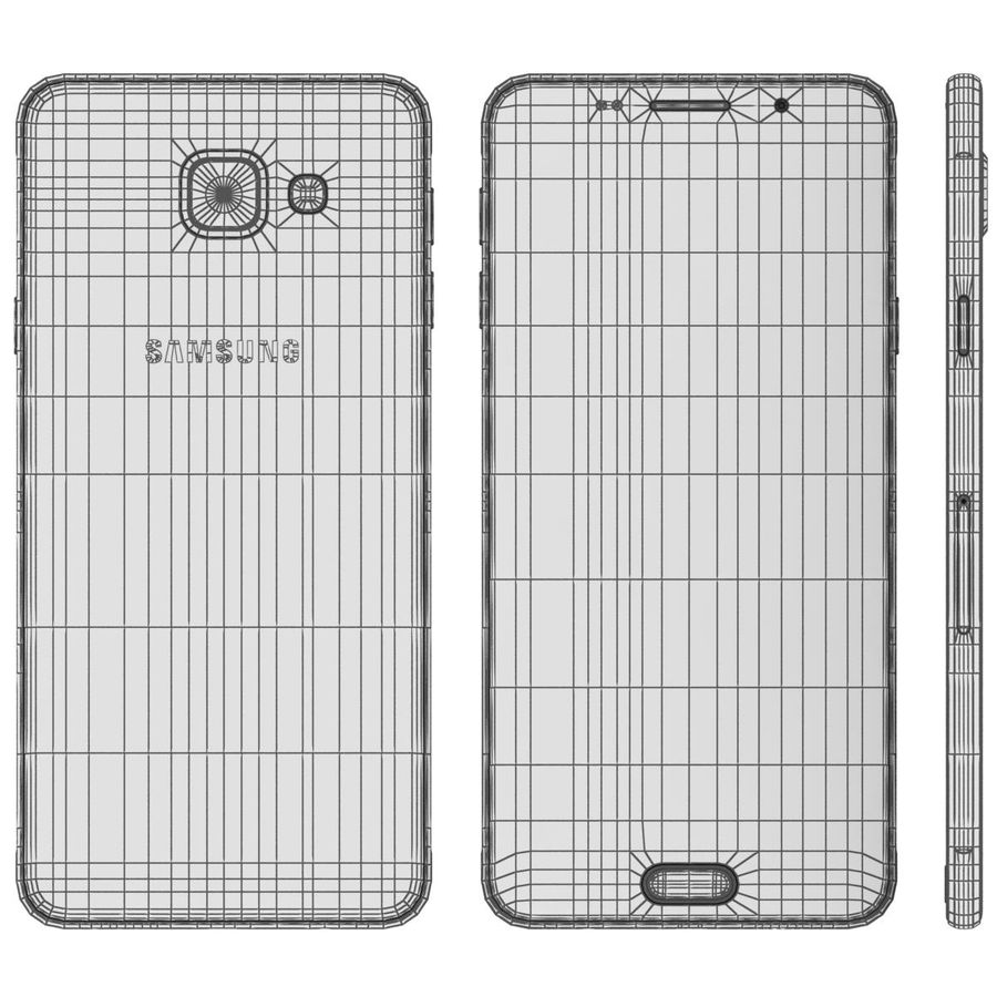 Samsung Galaxy A5 (2016) Svart royalty-free 3d model - Preview no. 23