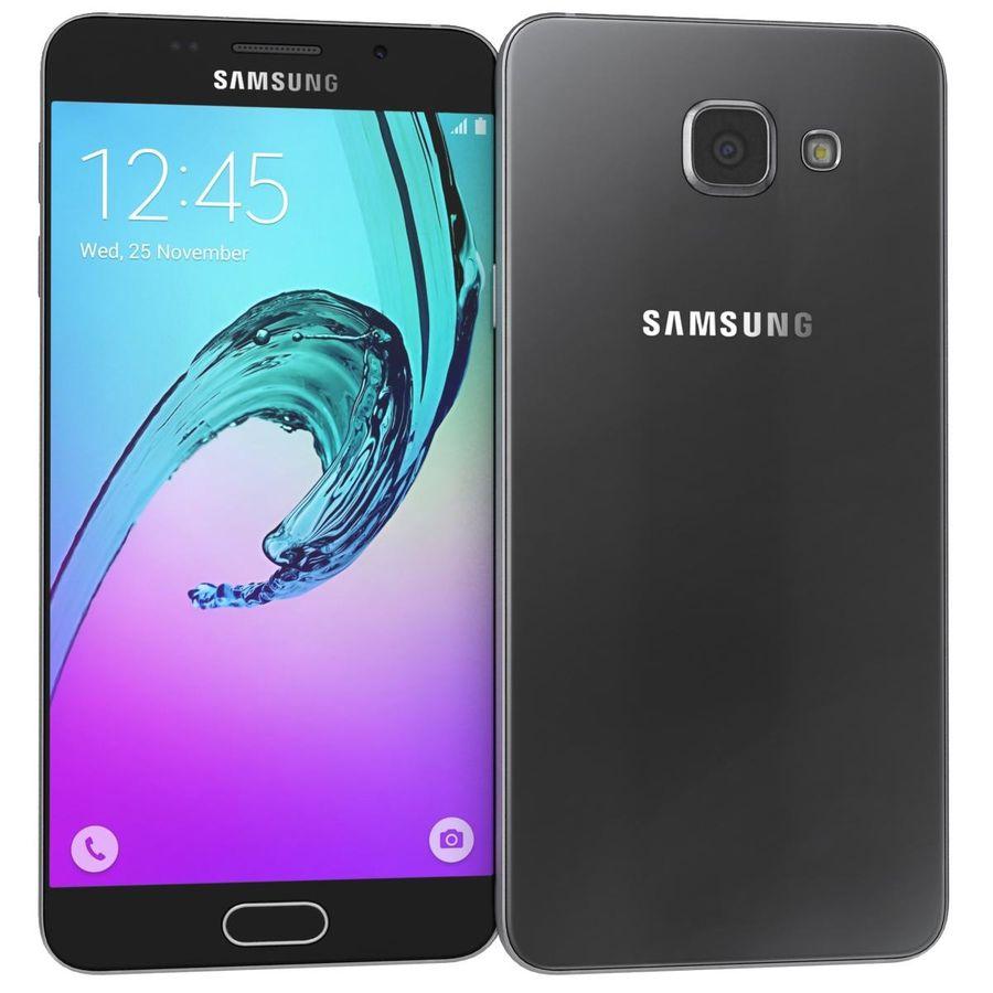 Samsung Galaxy A5 (2016) Svart royalty-free 3d model - Preview no. 2