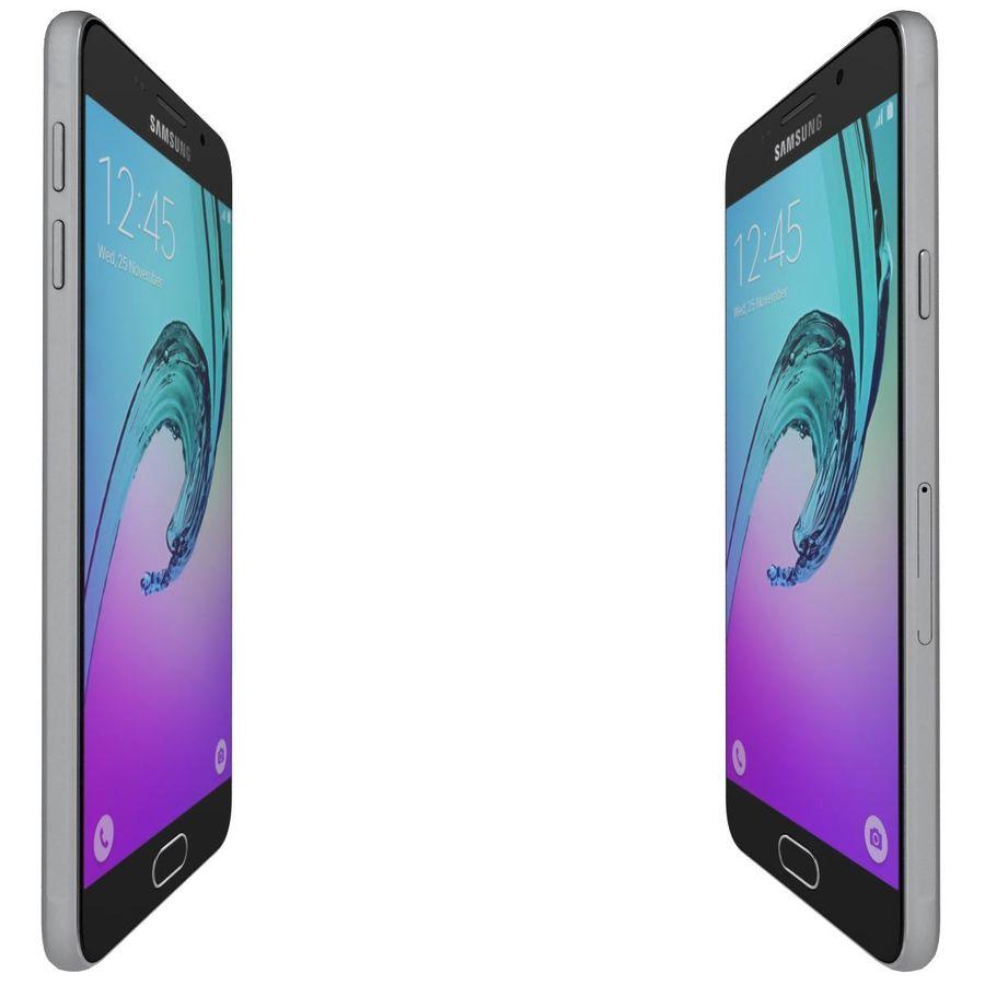 Samsung Galaxy A5 (2016) Svart royalty-free 3d model - Preview no. 10