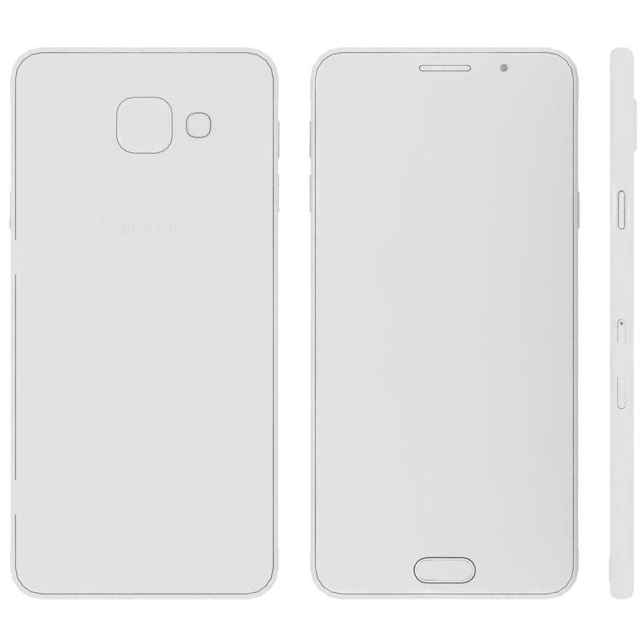Samsung Galaxy A5 (2016) Svart royalty-free 3d model - Preview no. 24