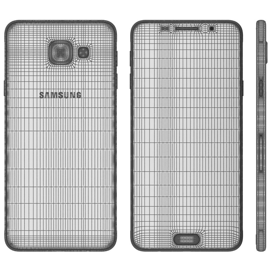 Samsung Galaxy A5 (2016) Svart royalty-free 3d model - Preview no. 25