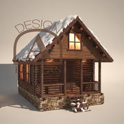 Winter Chalet Hi-Quality 3d model