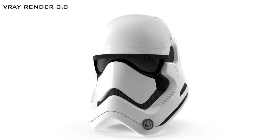 Stormtrooper New Order Helmet royalty-free 3d model - Preview no. 11