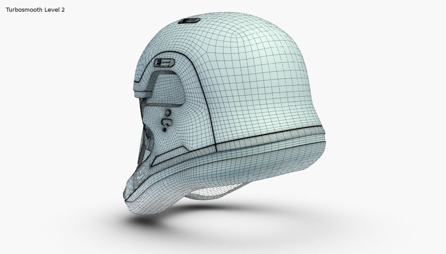 Stormtrooper New Order Helmet royalty-free 3d model - Preview no. 16