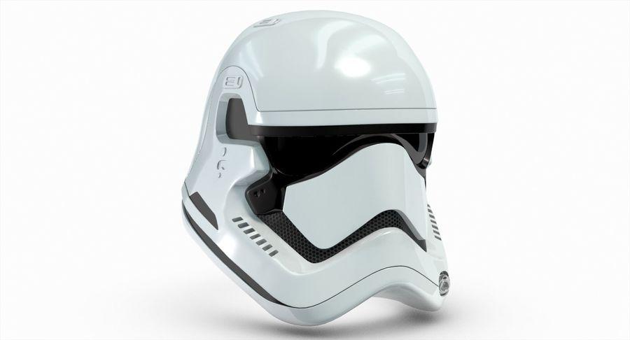 Stormtrooper New Order Helmet royalty-free 3d model - Preview no. 5