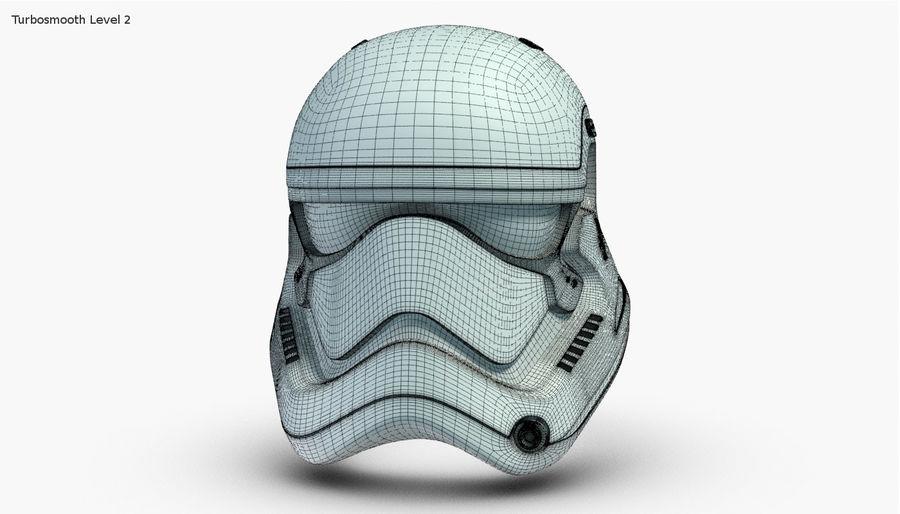 Stormtrooper New Order Helmet royalty-free 3d model - Preview no. 18