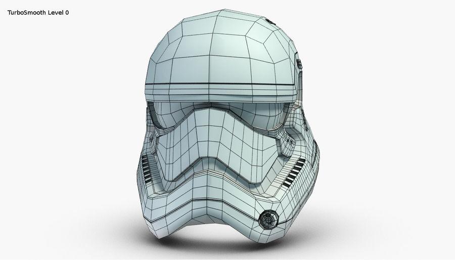 Stormtrooper New Order Helmet royalty-free 3d model - Preview no. 24