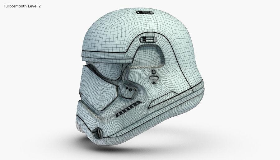 Stormtrooper New Order Helmet royalty-free 3d model - Preview no. 17