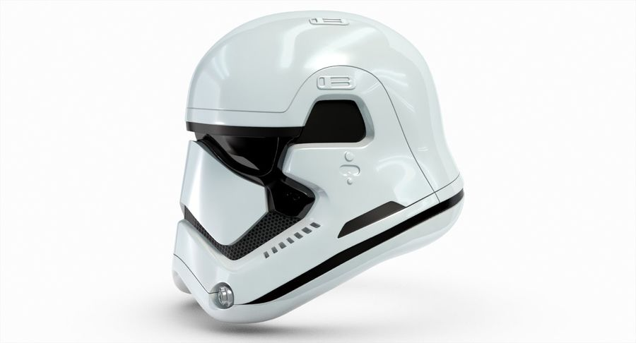 Stormtrooper New Order Helmet royalty-free 3d model - Preview no. 8