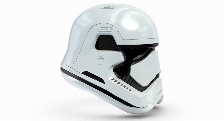Stormtrooper New Order Helmet royalty-free 3d model - Preview no. 6