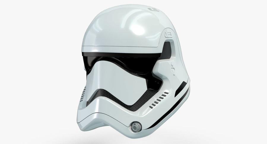 Stormtrooper New Order Helmet royalty-free 3d model - Preview no. 2