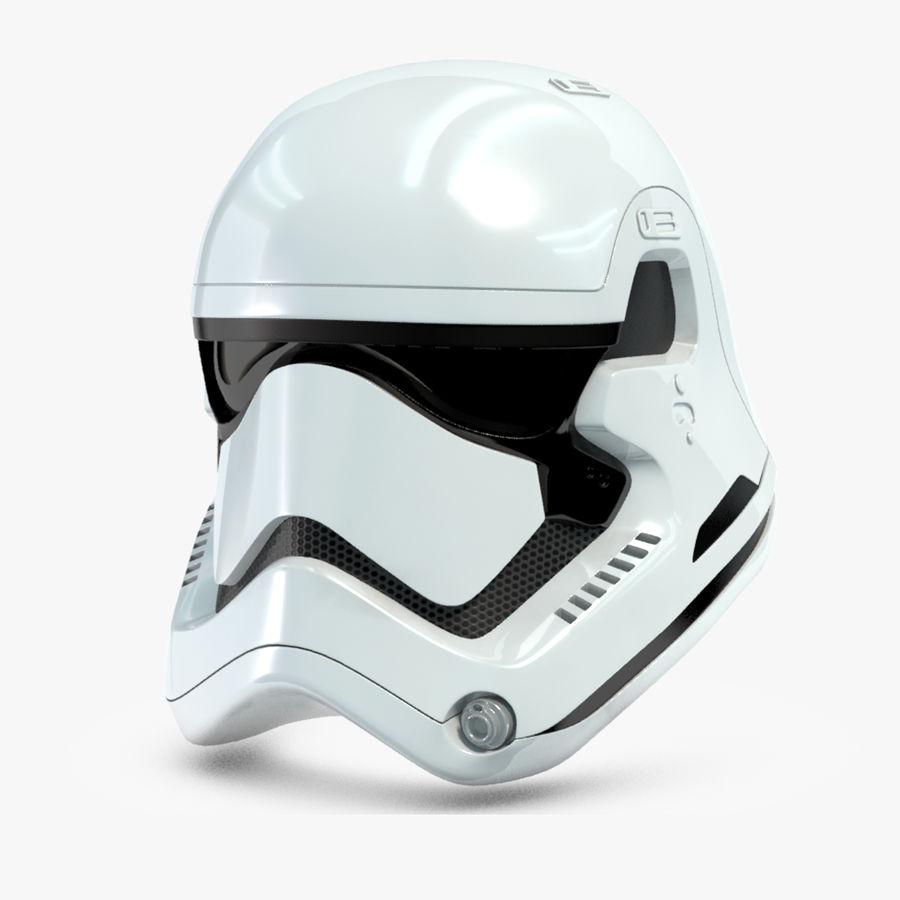 Stormtrooper New Order Helmet royalty-free 3d model - Preview no. 1