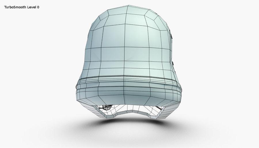Stormtrooper New Order Helmet royalty-free 3d model - Preview no. 22