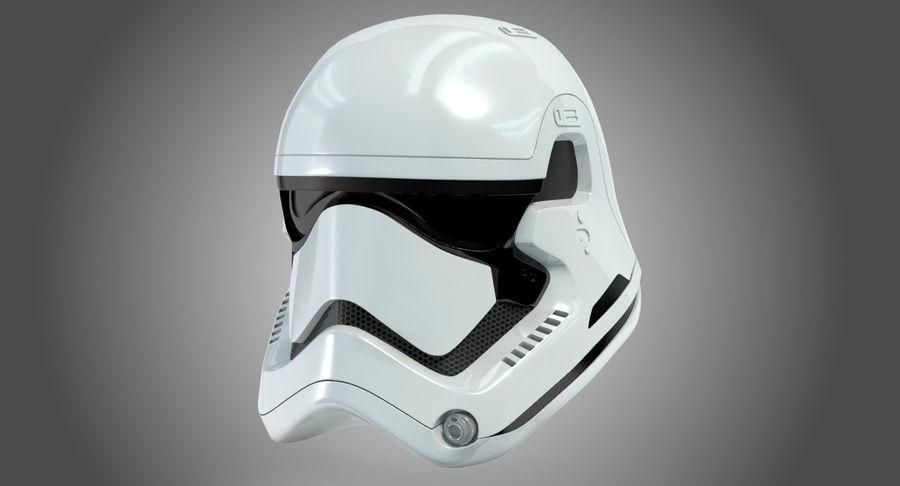 Stormtrooper New Order Helmet royalty-free 3d model - Preview no. 3