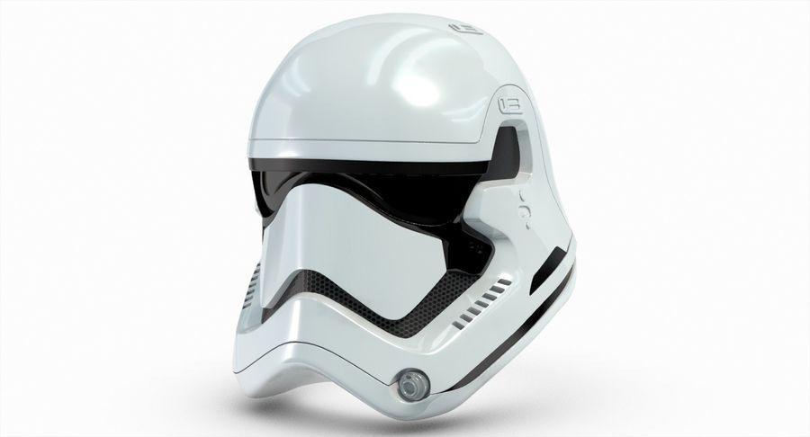Stormtrooper New Order Helmet royalty-free 3d model - Preview no. 9