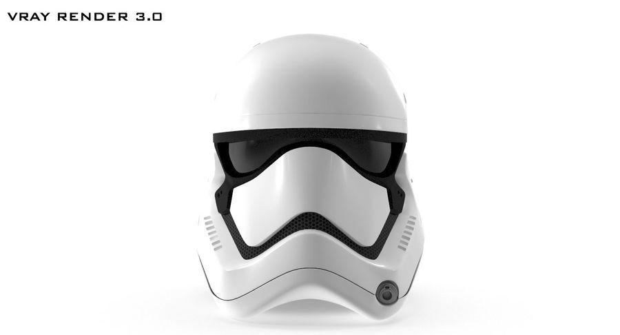 Stormtrooper New Order Helmet royalty-free 3d model - Preview no. 10