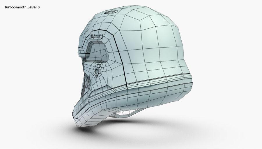 Stormtrooper New Order Helmet royalty-free 3d model - Preview no. 23
