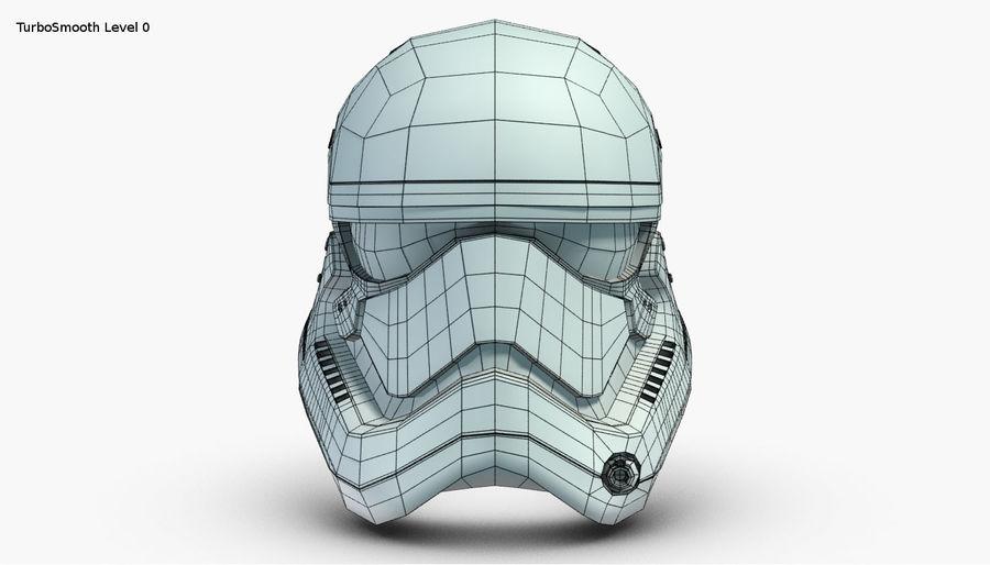 Stormtrooper New Order Helmet royalty-free 3d model - Preview no. 19