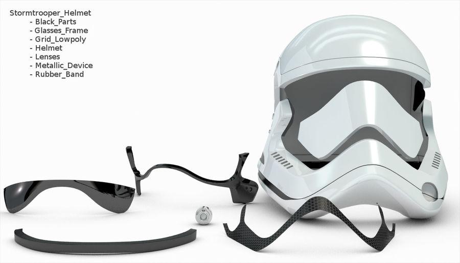 Stormtrooper New Order Helmet royalty-free 3d model - Preview no. 25