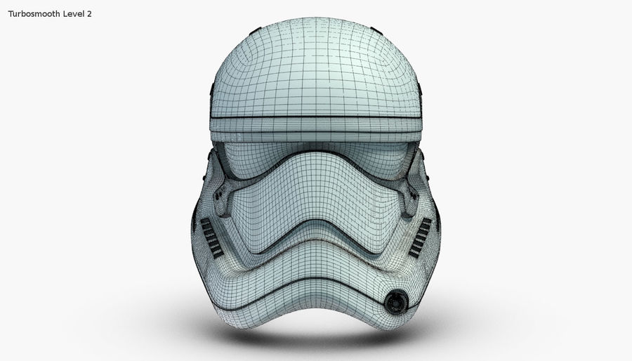 Stormtrooper New Order Helmet royalty-free 3d model - Preview no. 12