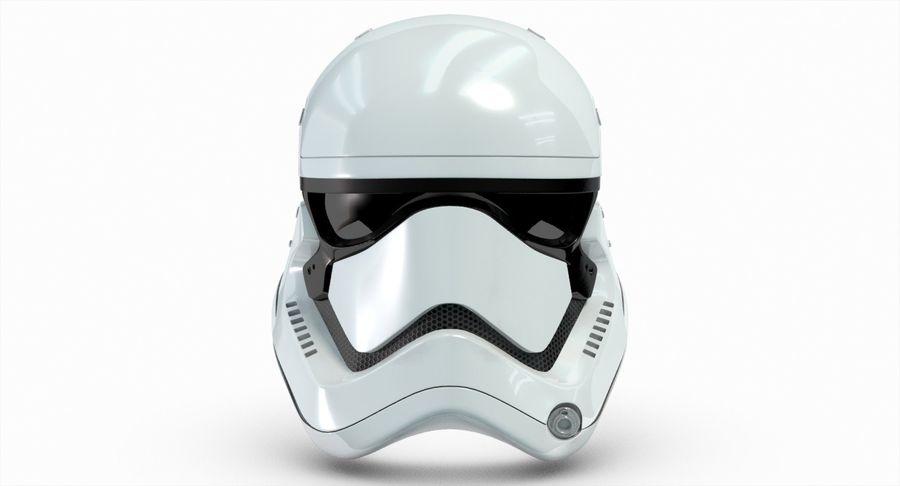 Stormtrooper New Order Helmet royalty-free 3d model - Preview no. 4