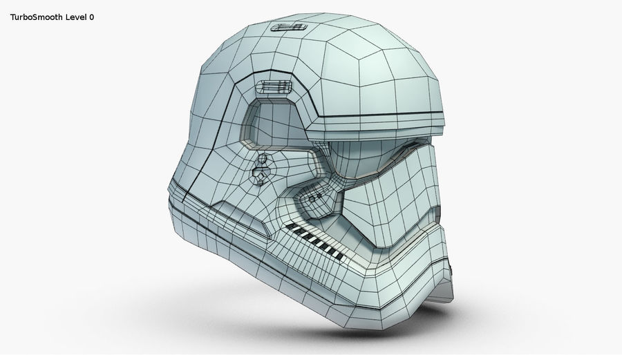 Stormtrooper New Order Helmet royalty-free 3d model - Preview no. 20