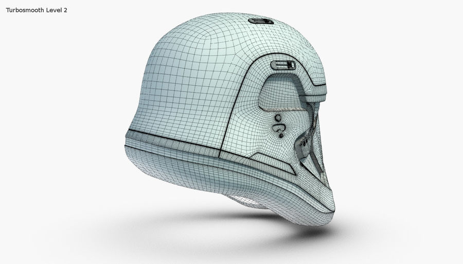 Stormtrooper New Order Helmet royalty-free 3d model - Preview no. 14