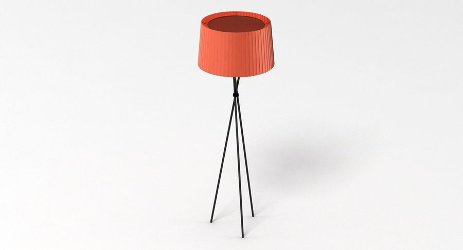 Santa Cole Tripode G5 Lamp Red royalty-free 3d model - Preview no. 3
