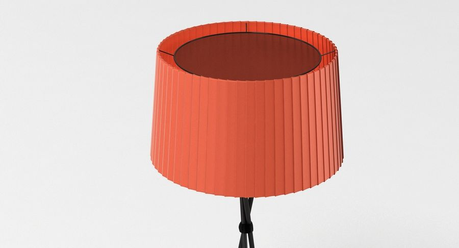 Santa Cole Tripode G5 Lamp Red royalty-free 3d model - Preview no. 5