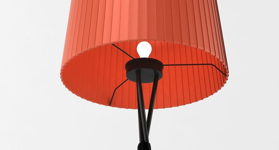 Santa Cole Tripode G5 Lamp Red royalty-free 3d model - Preview no. 11