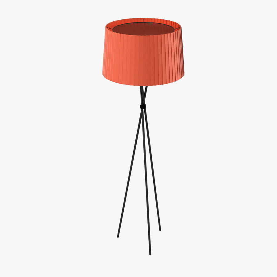 Santa Cole Tripode G5 Lamp Red royalty-free 3d model - Preview no. 1