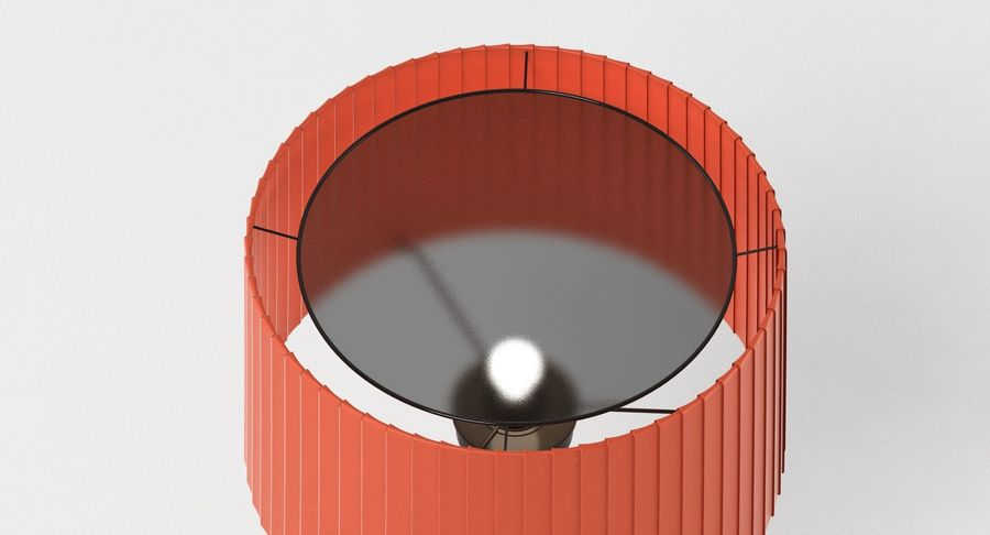 Santa Cole Tripode G5 Lamp Red royalty-free 3d model - Preview no. 12