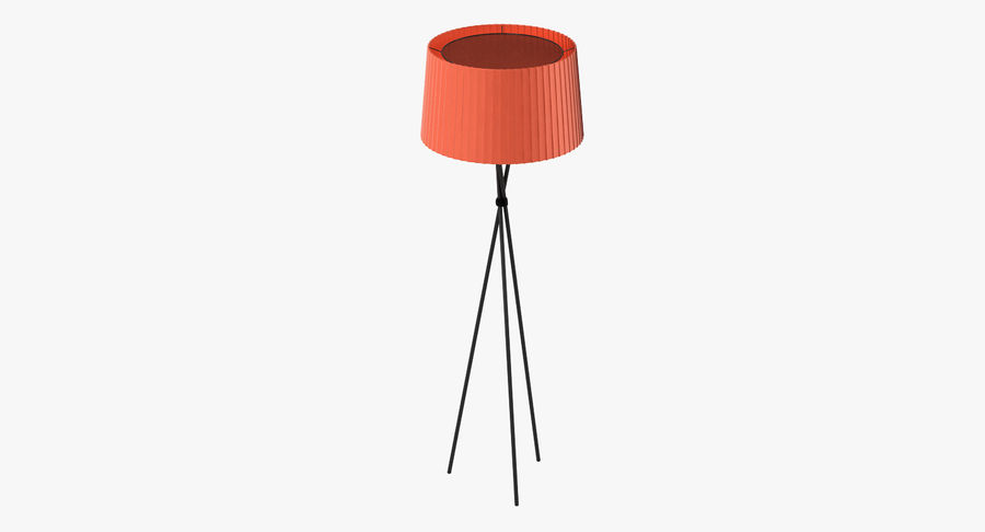 Santa Cole Tripode G5 Lamp Red royalty-free 3d model - Preview no. 2