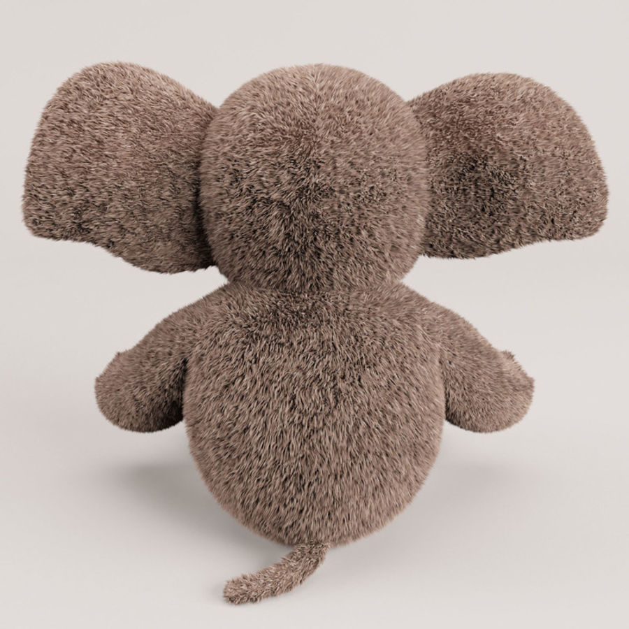 Plush Toy Elephant royalty-free 3d model - Preview no. 11