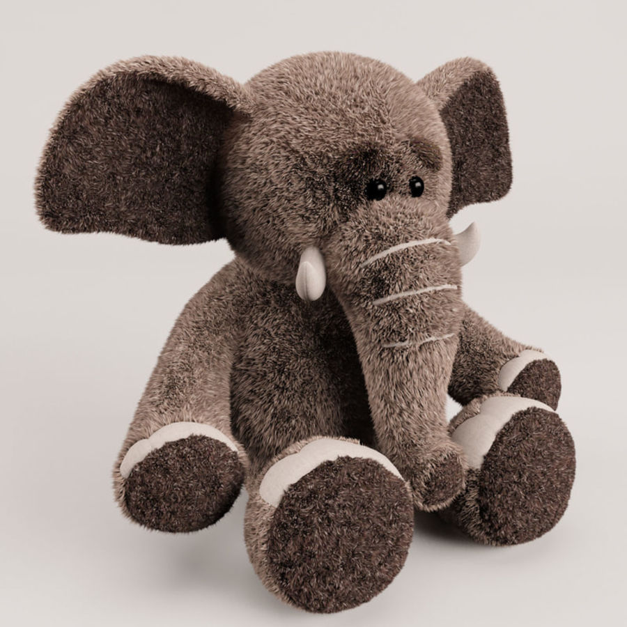 Plush Toy Elephant royalty-free 3d model - Preview no. 7