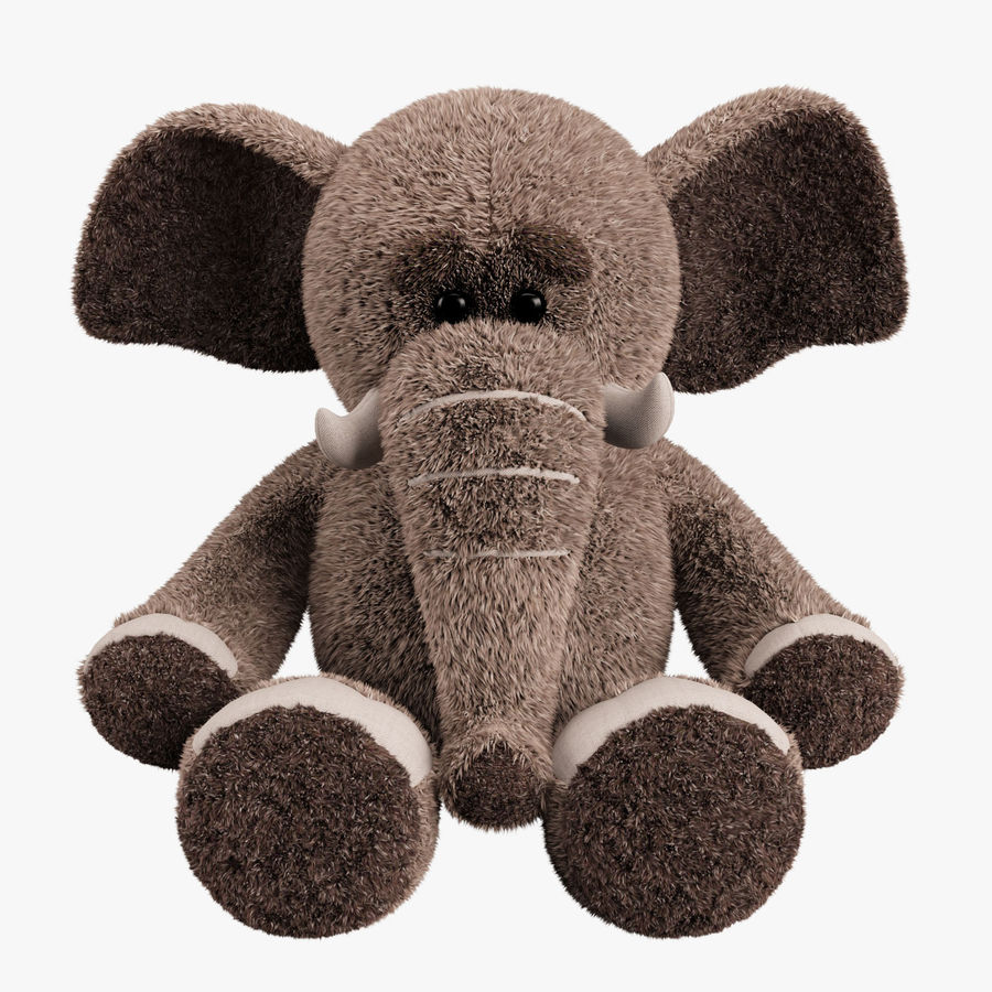 Plush Toy Elephant royalty-free 3d model - Preview no. 1
