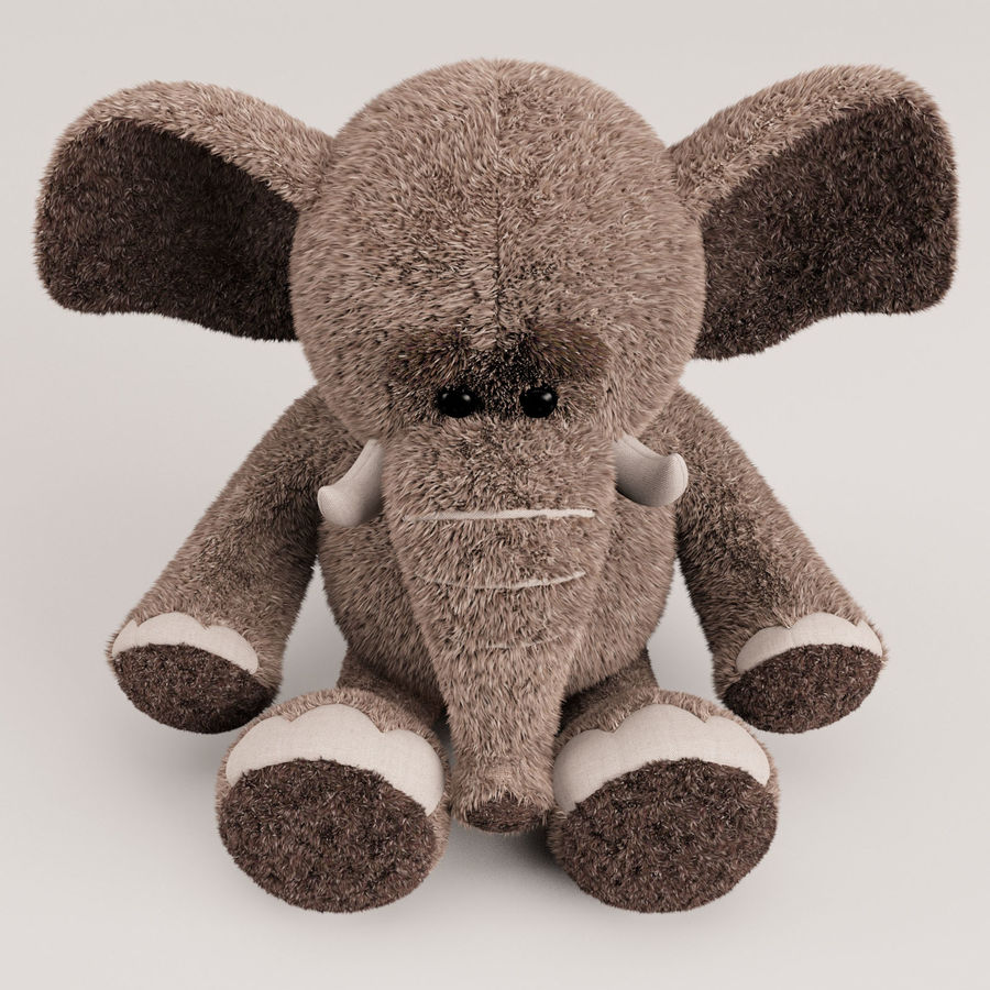 Plush Toy Elephant royalty-free 3d model - Preview no. 13