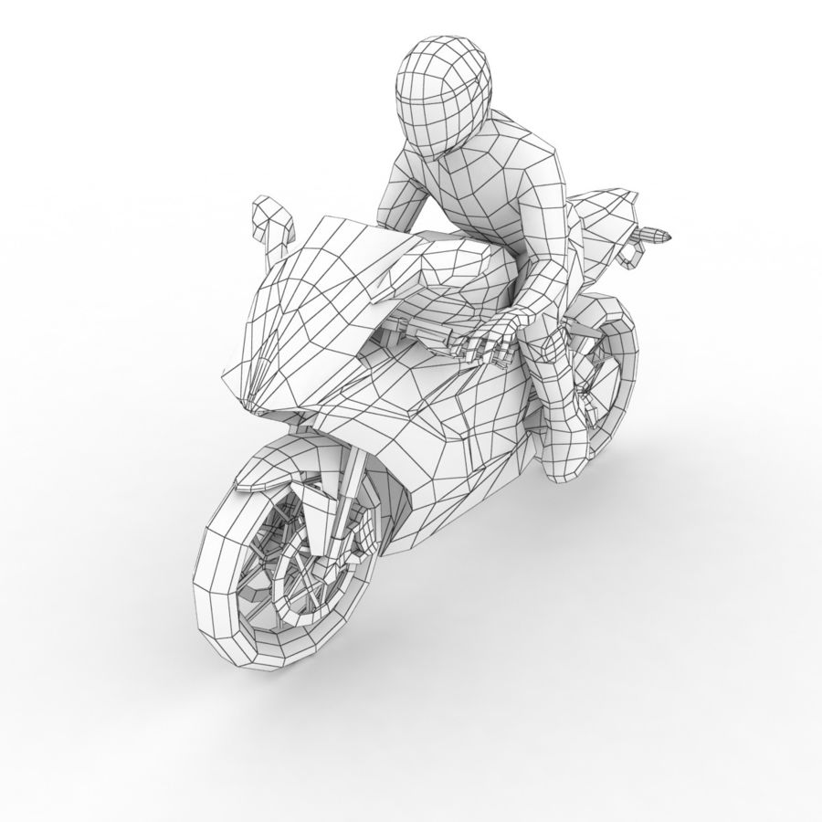 MV Agusta F3 2012 royalty-free 3d model - Preview no. 7