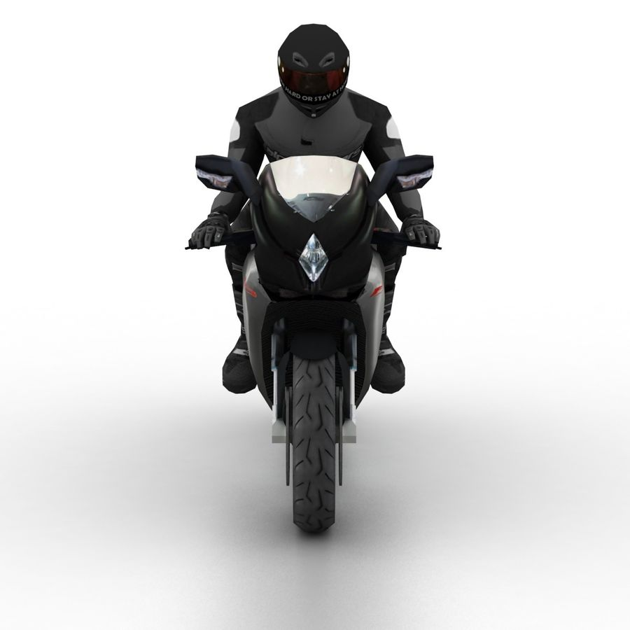 MV Agusta F3 2012 royalty-free 3d model - Preview no. 4