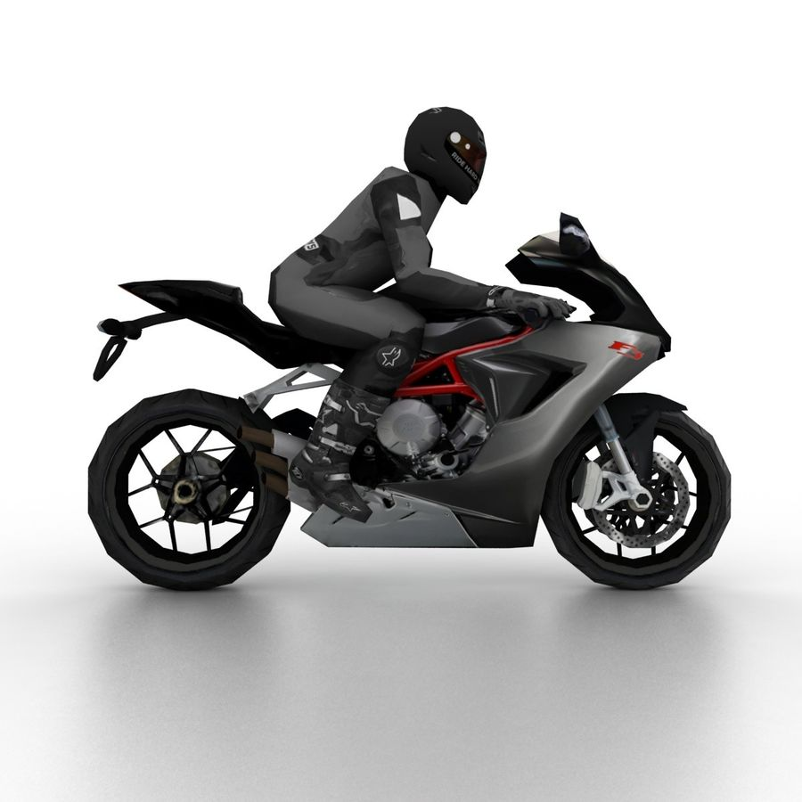 MV Agusta F3 2012 royalty-free 3d model - Preview no. 3