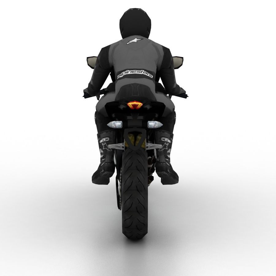 MV Agusta F3 2012 royalty-free 3d model - Preview no. 5