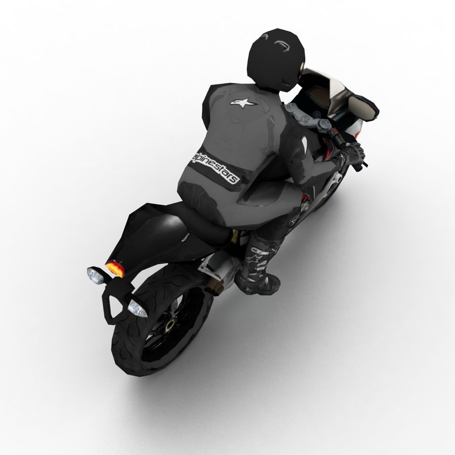 MV Agusta F3 2012 royalty-free 3d model - Preview no. 6