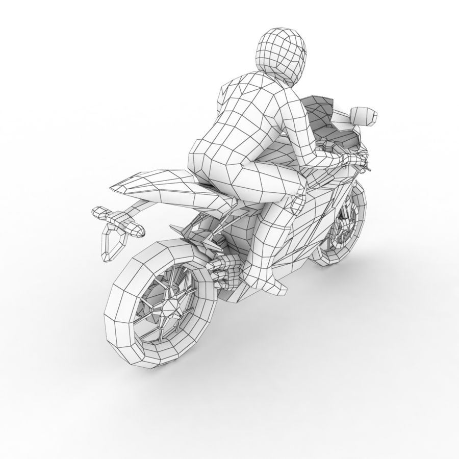 MV Agusta F3 2012 royalty-free 3d model - Preview no. 8