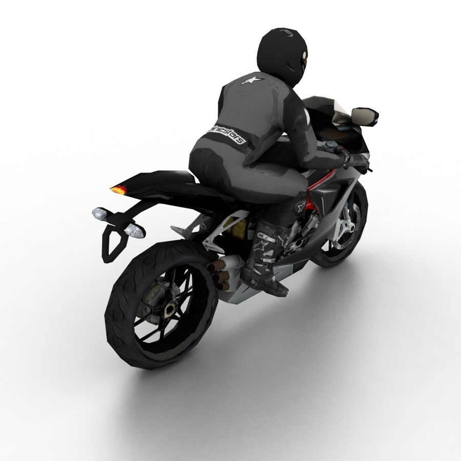 MV Agusta F3 2012 royalty-free 3d model - Preview no. 2