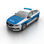 Volvo V60 Police 2015 3d model