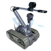 Uzaktan kumandalı bomba imha robotu 3d model