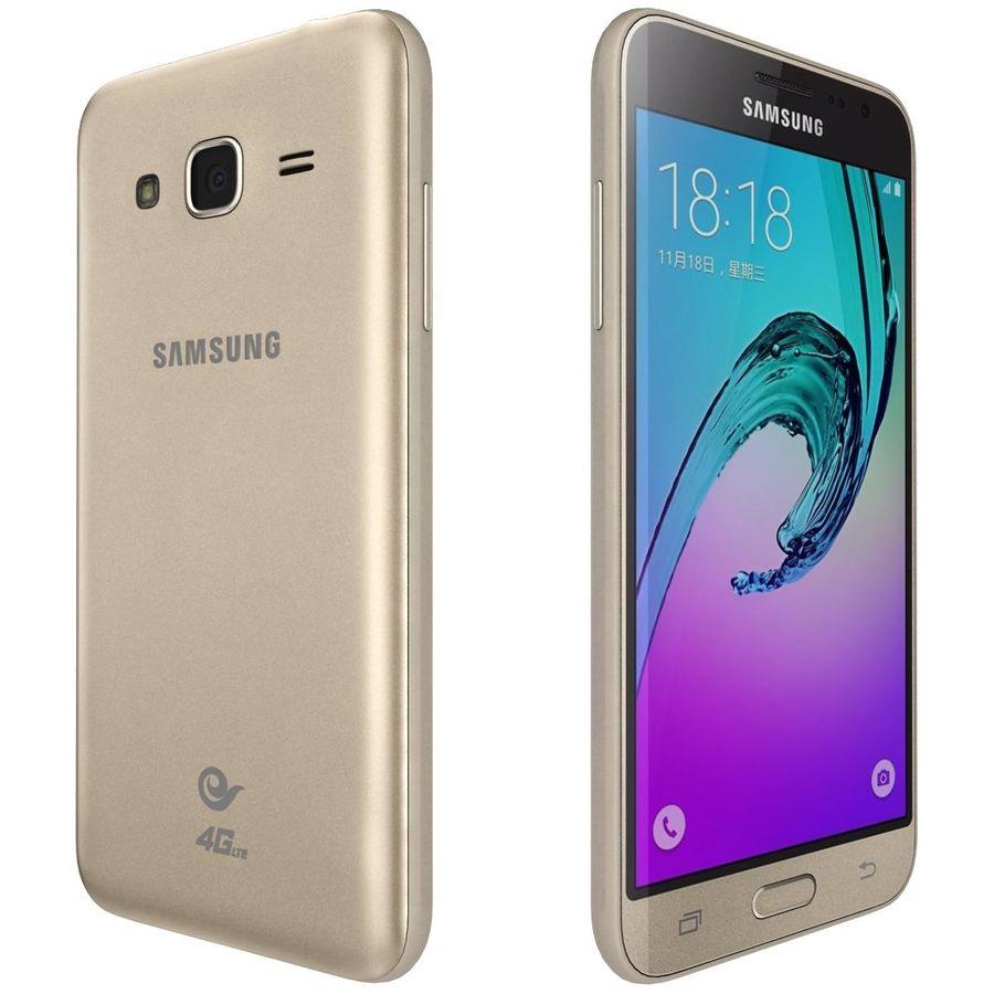 三星Galaxy J3 Gold royalty-free 3d model - Preview no. 5